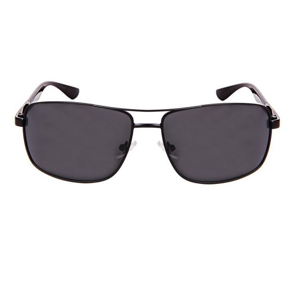 Square Aviator Polarized SunglassesSmoke Front