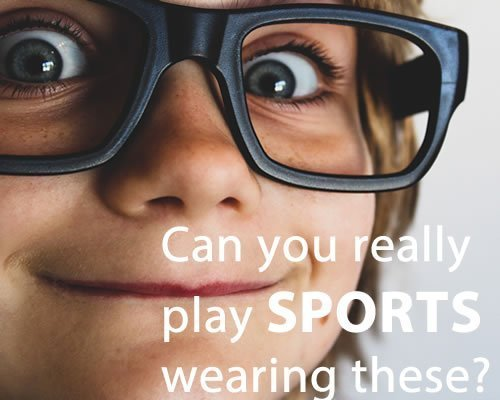 Wearing casual glasses for sports is not safe and practical.