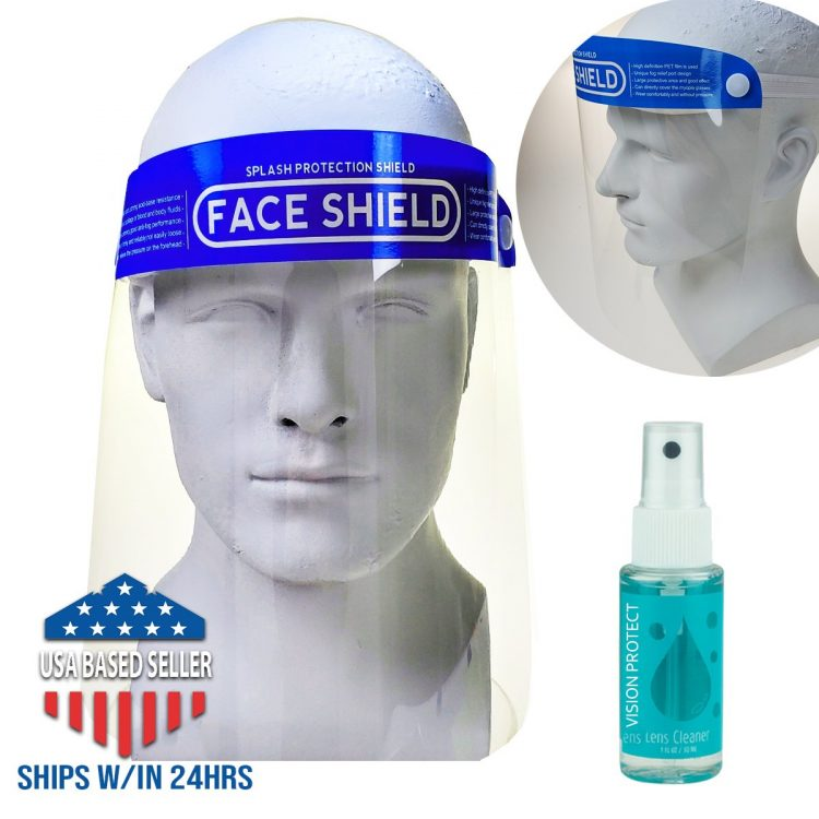 SunglassMonster.com Face Shield Mask Anti Virus Safety Clear Cover