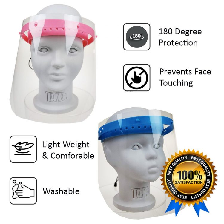 sunglassmonster.com boys girls flip up face shield protects from splash & spray children school