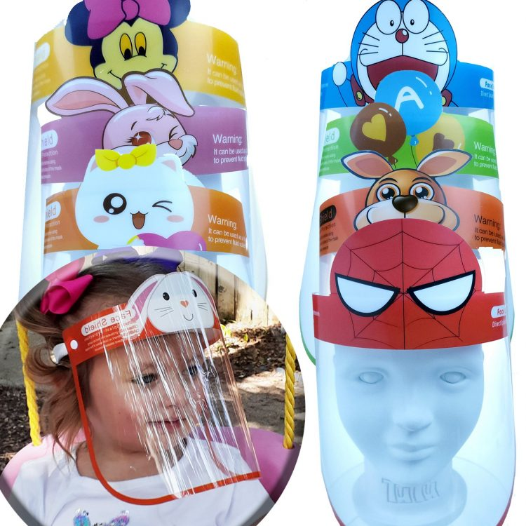 Sunglassmonster.com Childrens Face Shields Boys Girls Minnie Mouse Bear Rabbit Spiderman Dog Cartoon Character